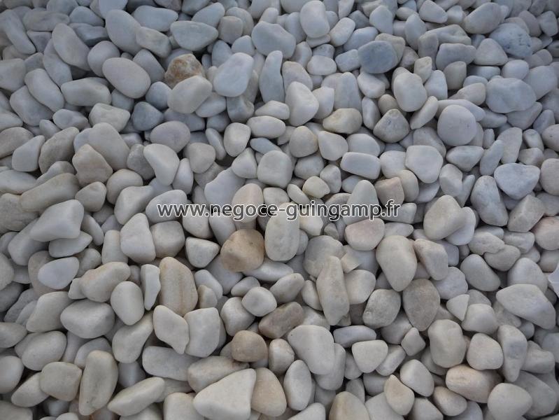 Galet marbre blanc en big bag ou en vrac vend e loire for Ou acheter des galets blancs
